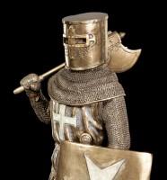 Ritter Figur - Deutscher Kreuzritter mit Axt