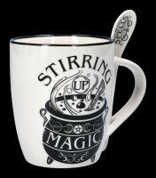 Tasse mit Löffel - Hexenkessel Stirring Up Magic