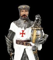 Crusader Figurine with Helmet in Hand