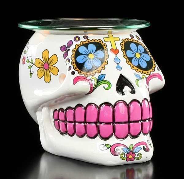 Sugar Skull Duftlampe - Mexikanischer Totenkopf