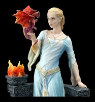 Drachen-Königin Figur mit Drachenjungen