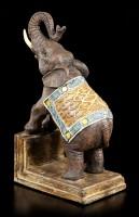 Buchstützen Set - Geschmückte Elefanten
