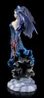 Große Engel Figur - Dark Angel mit Drache