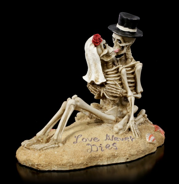 Skeleton Figurine - Love Never Dies - Beach Lovers