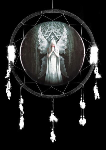 Großer Traumfänger mit Engel - Only Love Remains