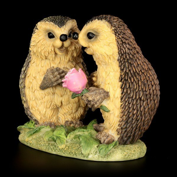 Funny Hedgehog Figurine - Rose Cavalier