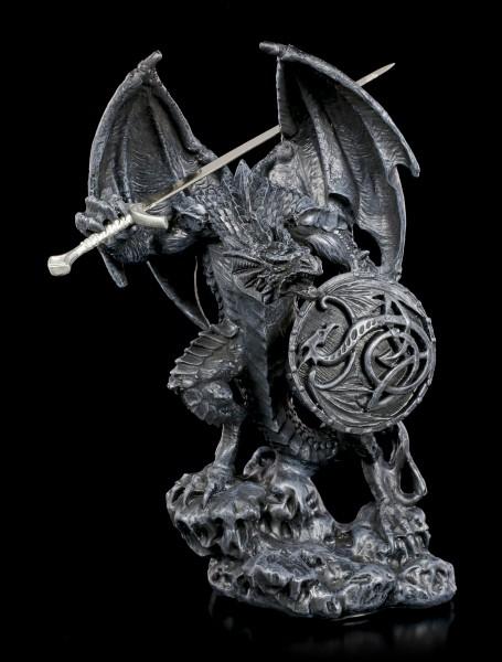 Letter Opener Dragon - Black Warrior