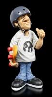 Funny Sports Figurine - Skater with Helmet