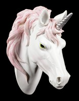 Wall Plaque - Unicorn Head with pink Mane