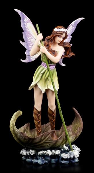 Fairy Figurine - Anca on Leaf Boat
