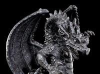 Dragon Figurine with Castle Snow Globe