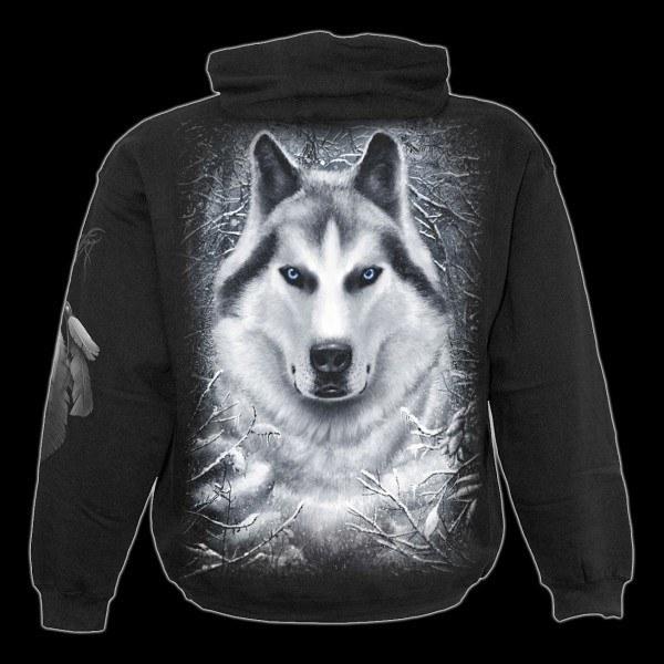 Kapuzenpulli Kinder Fantasy - White Wolf