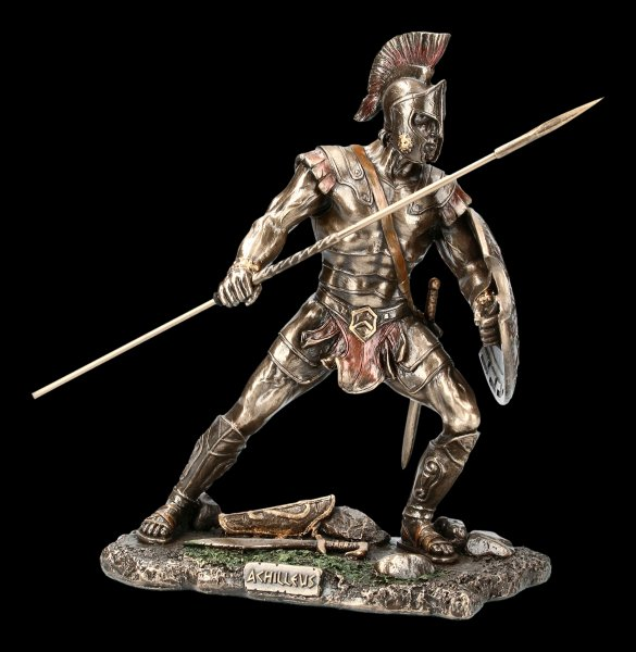 Achilles Figurine - With Spear and Shield to Attack
