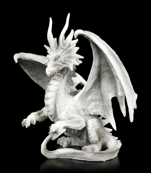 Checkmate Dragon Figurine - white