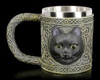 Celtic Tankard with black Cat