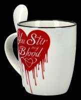 Tasse mit Löffel - You Stir My Blood