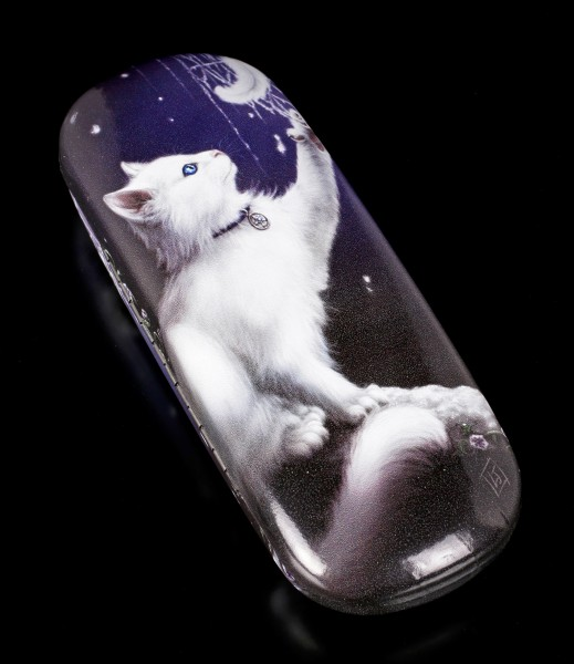 Glasses Case with Cat - Snow Kitten