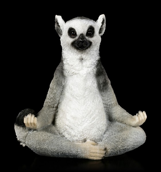 Garden Figurine - Lemur doing Yoga