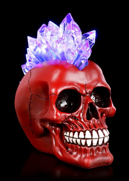 Irokesen Totenkopf LED - Red Crystal Hawk