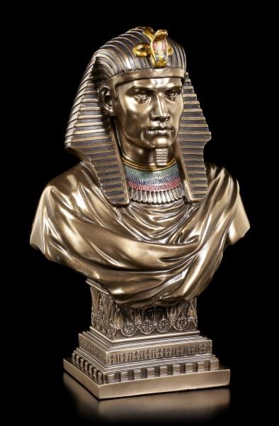 Ägyptische Büste - Pharao Ramses II - bronziert