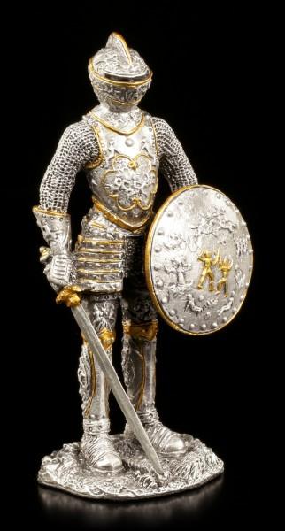 Zinn Ritter Figur - Mit Schwert und Schild
