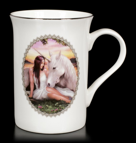 Mug with Unicorn - Pure Heart by Anne Stokes
