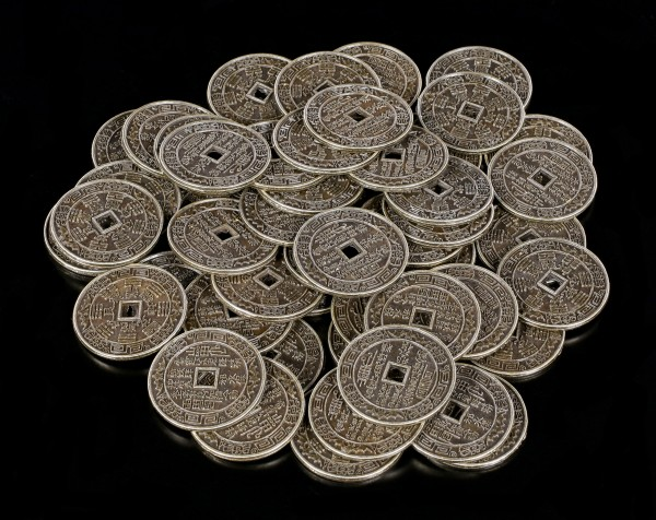 50 Chinese Coins - Lucky Feng Shui