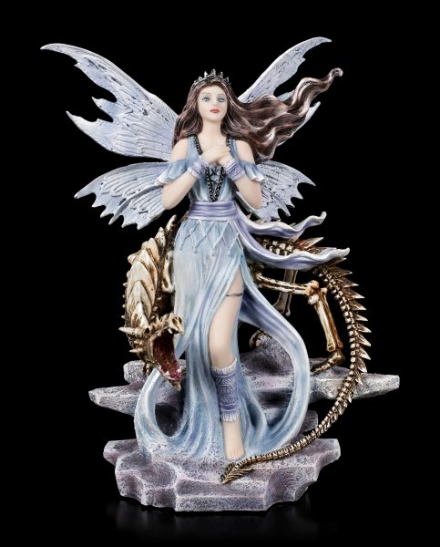 Fairy Figurine - Mira with Dragon Skeleton
