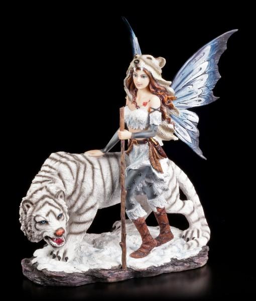 Vorschau: Elfen Figur - Alba mit weißem Tiger