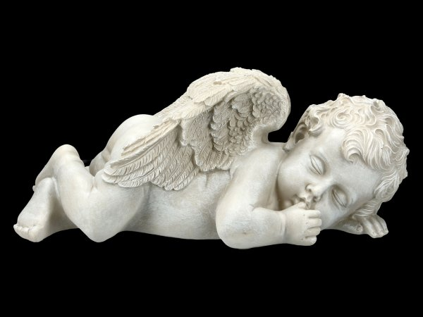 Garden Figurine - Sleeping Angel with thumb in Mouth