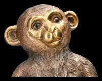Affen Figur mit Schale