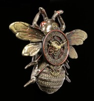 Steampunk Wanduhr - Biene