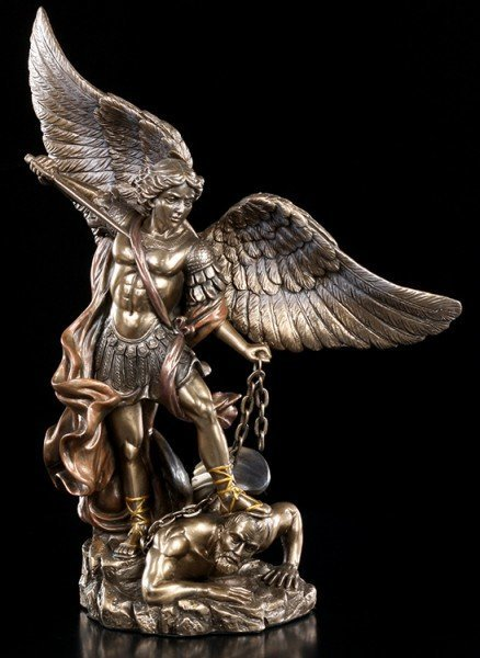 Archangel Michael Figurine with Sword and Chain