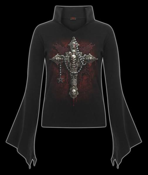 Langarmshirt Damen Gothic- Death Bones