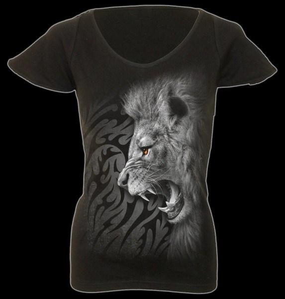 Damen T-Shirt - Tribal Lion