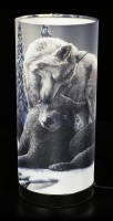 Table Lamp with Wolves - Snow Kisses