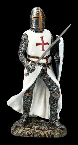 Kreuzritter mit Schwert und Schild