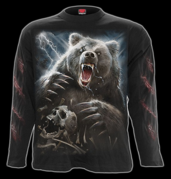 Langarmshirt Horror Grizzly - Bear Claws