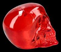 Skull - translucent red