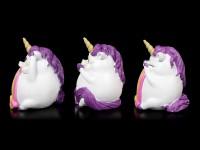 Three wise Unicorns - Pukicorns