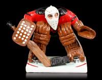 Ice Hockey Goalkeeper in Full Armor - Funny Sports