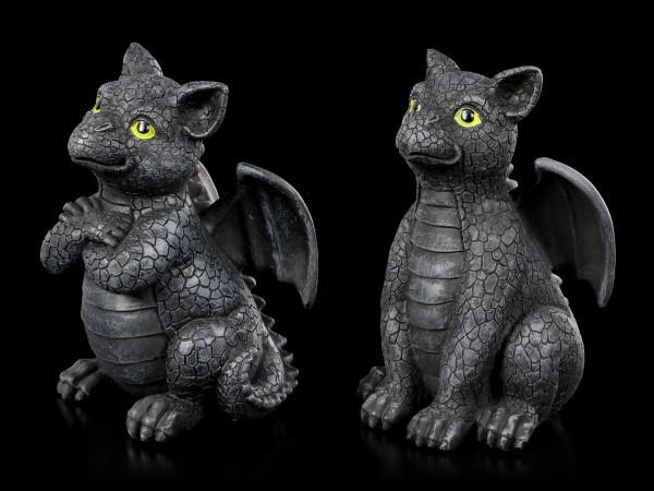 Schwarze Drachen Figuren - Black Guards 2er Set
