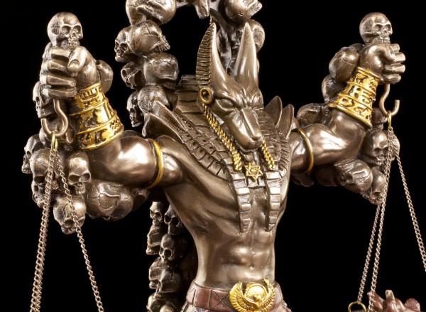 Anubis Figur mit Herz und Feder