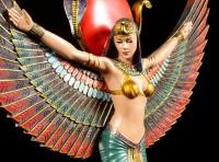 Ägyptisches Wandrelief - Isis mit ausgebreiteten Flügeln