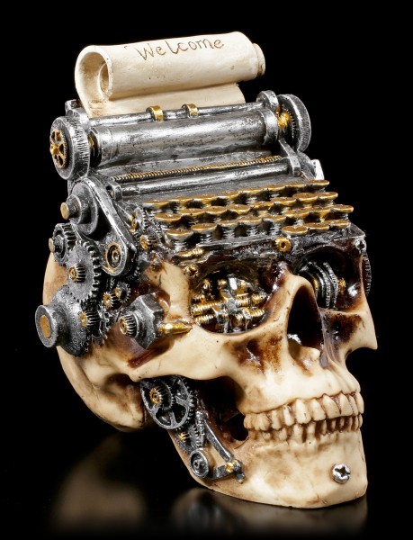 Steampunk Skull Typewriter - Welcome