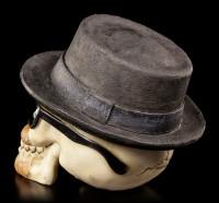 Totenkopf mit Hut und Sonnenbrille - Badass klein