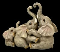 Elephant Family Figurines Set