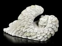 Angel Garden Figurine - Boy sleeps in Wings - small