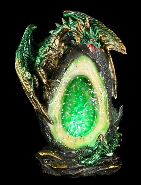 Dragon Figurines LED - Geode Keepers - Set of 4