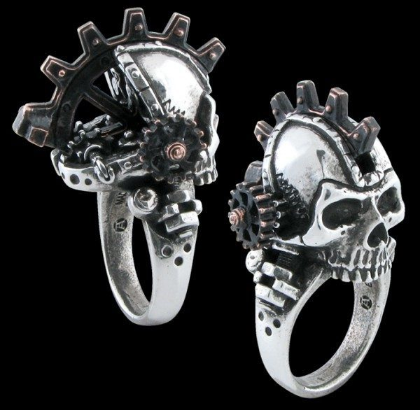 Alchemy Steampunk Totenkopf Ring - Steamhead